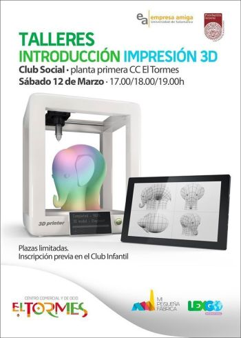 Talleres de diseño e impresión en 3D en El Tormes
