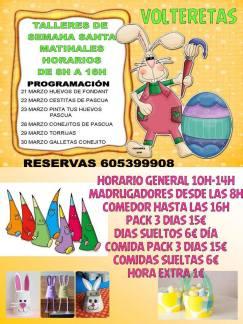 Talleres infantiles matinales de Semana Santa en Volteretas