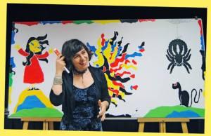 Violeta Monreal visita la librería infantil Musarañas