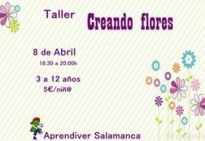 Taller infantil de creación de flores en Aprendiver