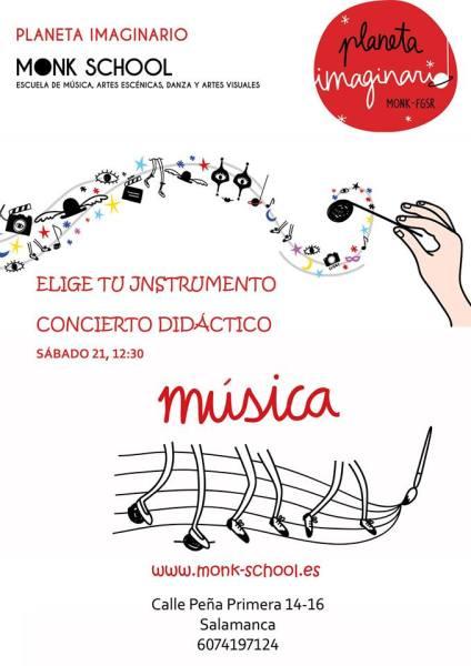 Concierto didáctico en Monk para elegir tu instrumento