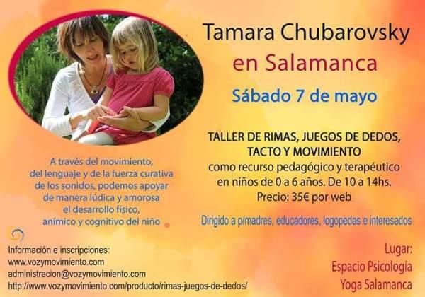 Taller de Tamara Chubarovsky en Espacio Psicología Salamanca