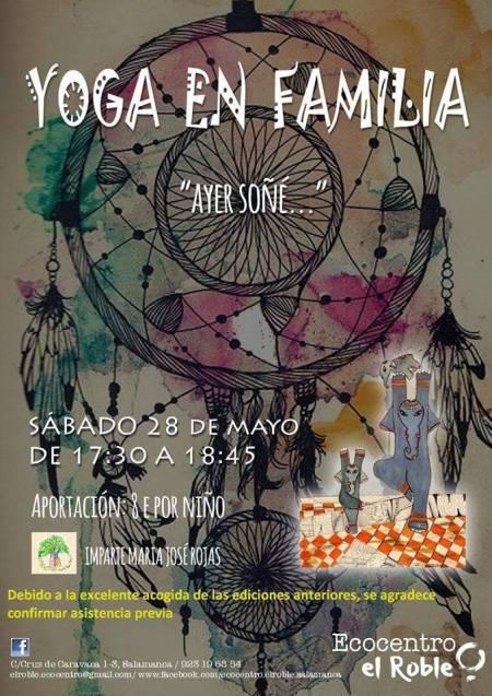 Yoga en familia Ayer soñé... en Ecocentro El Roble