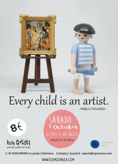 Picasso en el taller infantil de arte bilingüe de Espacio Nuca