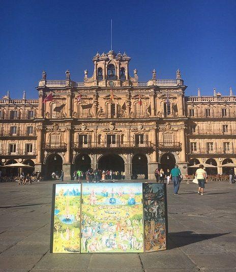 Una obra de El Bosco ha llegado al Artivity de Paz en Salamanca