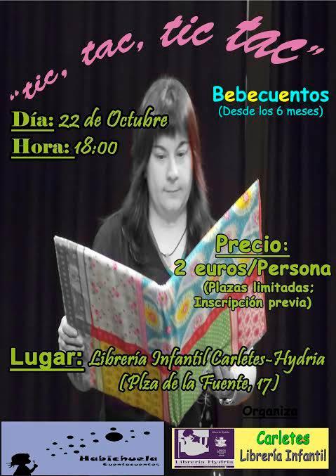 Bebecuentos con Habichuela en la librería Carletes de Salamanca