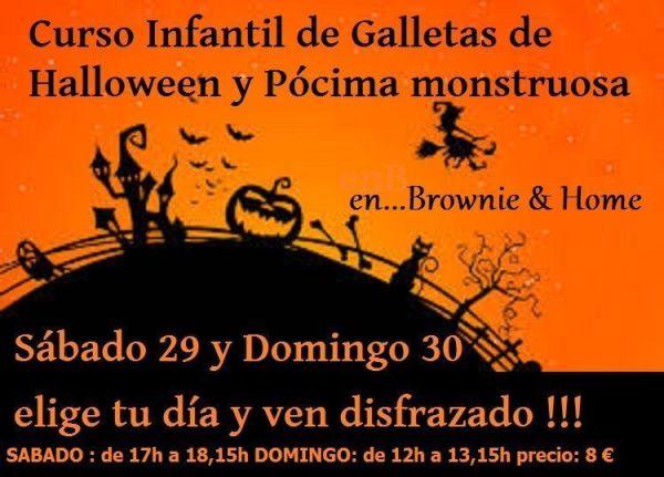 Curso infantil de galletas de Halloween en Brownie & Home