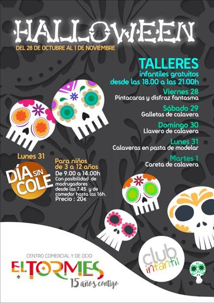Talleres infantiles de Halloween en El Tormes