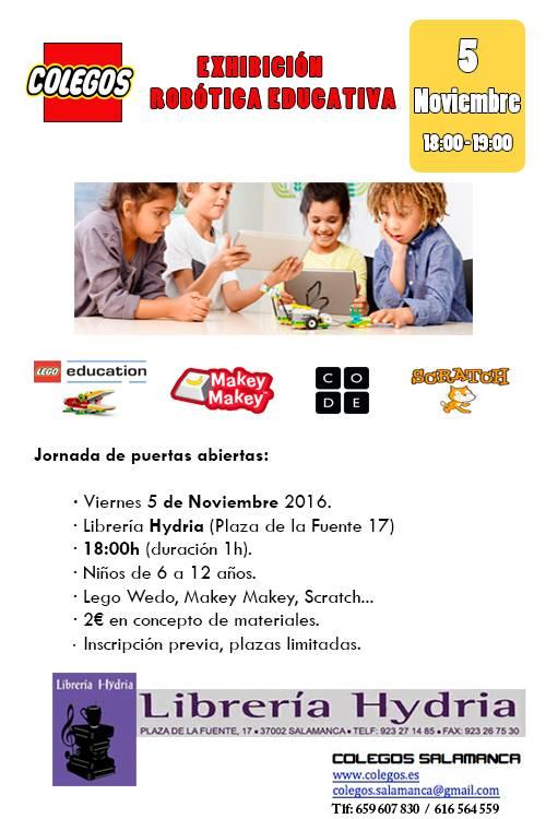 Exhibición de robótica educativa en la librería Hydria-Carletes