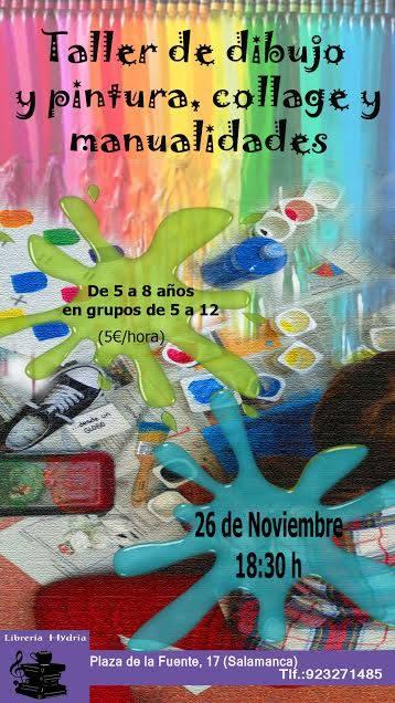 Taller infantil de collage en la librería Carletes-Hydria