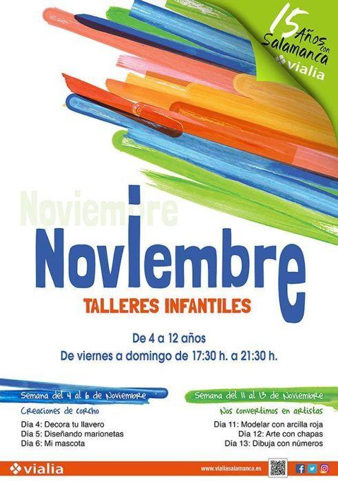 Talleres infantiles en Vialia en noviembre