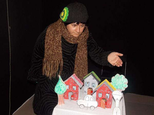 Habichuela y sus cuentos de invierno en la Sala Micenas