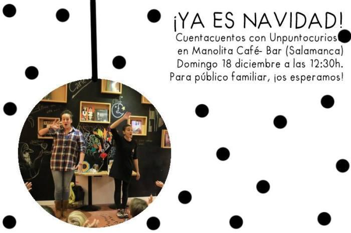 Unpuntocurioso en el Café Manolita con sus cuentos de Navidad