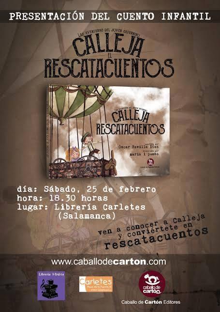 Presentación del cuento infantil Calleja Rescatacuentos