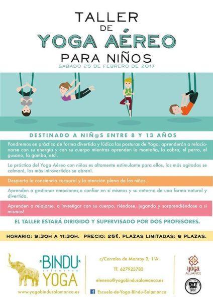 Taller de yoga aéreo para niños en Yoga Bindu