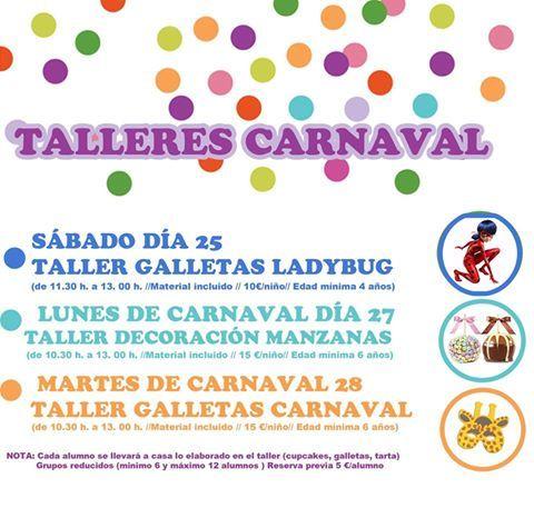 Talleres infantiles de Carnaval en Tarty Party