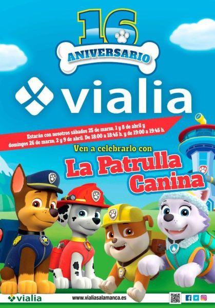 Celebra el aniversario de Vialia con La Patrulla Canina