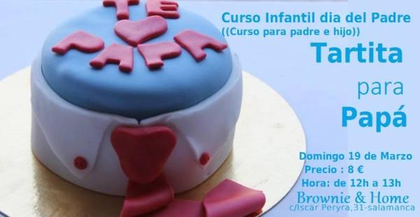 Curso infantil tarta para papá en Brownie & Home