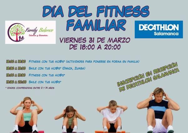 Día del fitness familiar organizado por Family Balance y Decathlon Salamanca