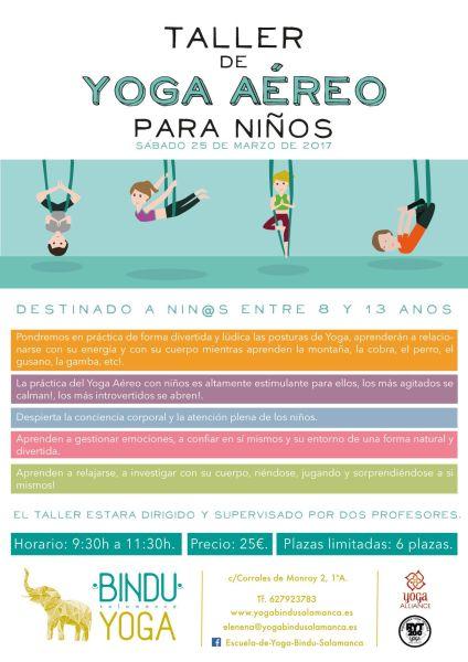 Taller de yoga aéreo para niños en Yoga Bindu este sábado
