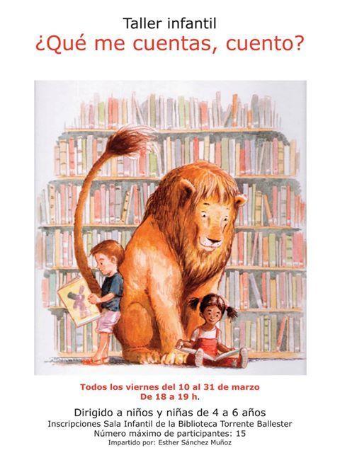 Taller infantil de animación a la lectura en la Biblioteca Torrente Ballester