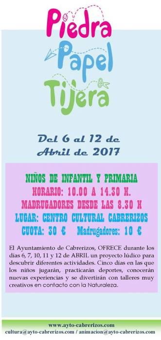 Actividades infantiles en Semana Santa en Cabrerizos