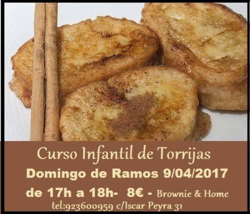 Curso infantil de torrijas en Brownie & Home
