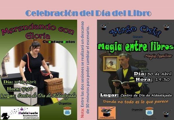 Habichuela y el Mago Oski celebran el Día del Libro en Aldeatejada
