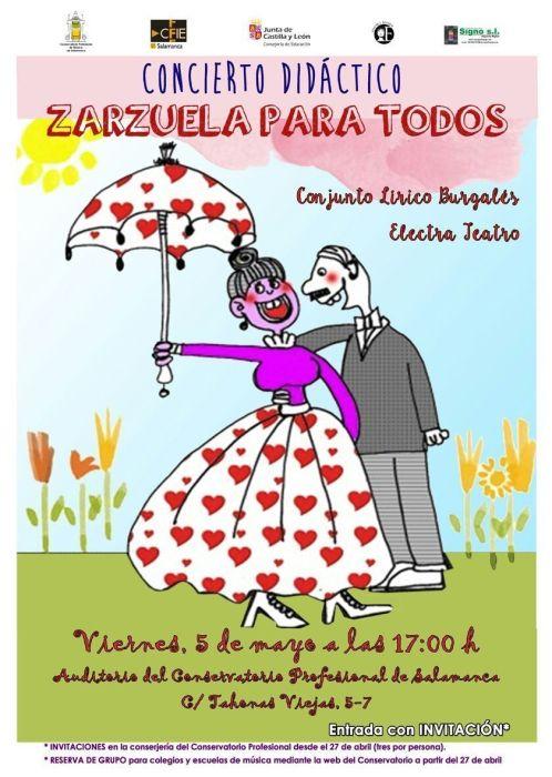 Concierto Didáctico Zarzuela para todos en el Conservatorio Profesional de Música