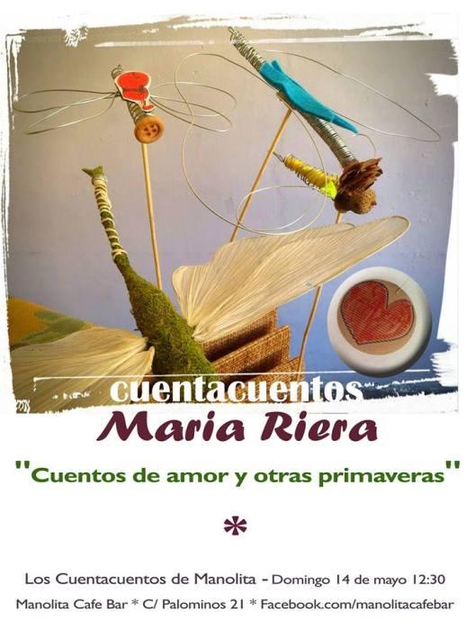 María Riera cuenta este domingo en el Manolita