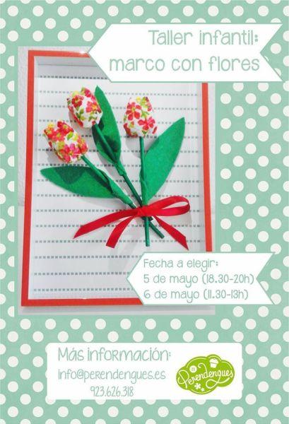 Taller infantil marco con flores en Perendengues para celebrar el Día de la Madre