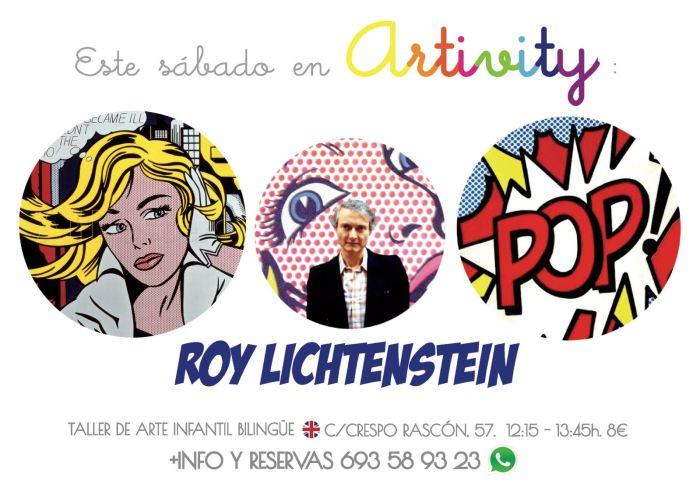 Roy Lichtenstein en el Artivity de Paz Samaniego