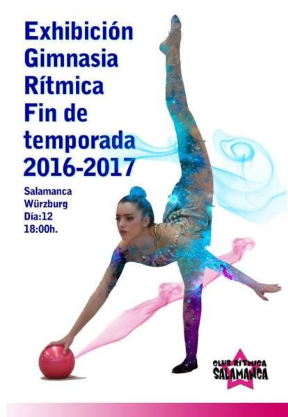 Exhibición de gimnasia rítmica el 12 de junio en Salamanca