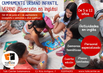 Campamento urbano en Talk Center Salamanca