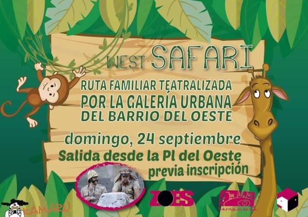 Ruta familiar teatralizada por la Galería Urbana del Barrio del Oeste en Salamanca