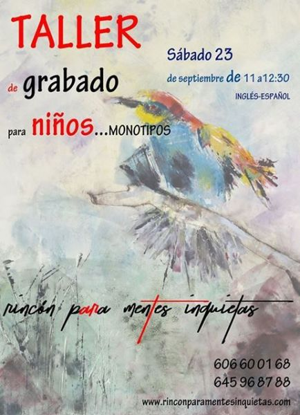 Participa en el taller infantil de grabado en El Rincón para Mentes Inquietas de Salamanca