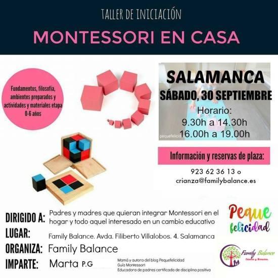 Taller de iniciación al Método Montessori en Family Balance con Marta del blog Pequefelicidad