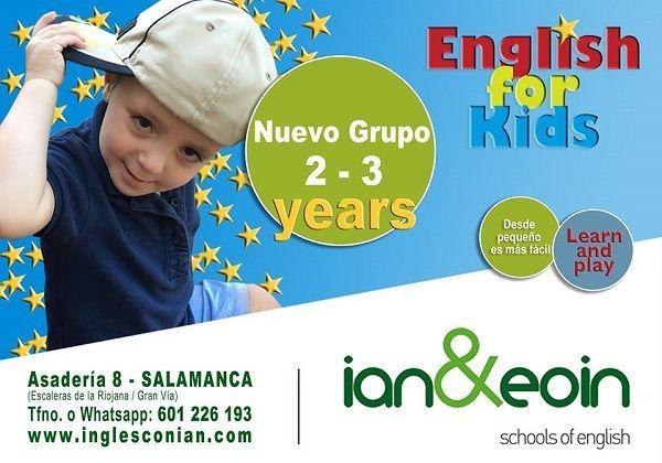 En Ian&Eoin abren nuevo grupo de inglés para los peques de 2 a 3 años. ¡Infórmate!