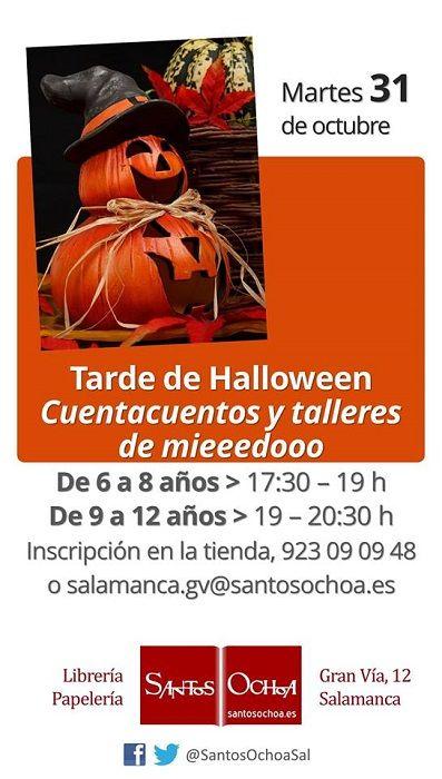 Cuentacuentos y talleres de miedo para celebrar Halloween en la librería Santos Ochoa de Salamanca