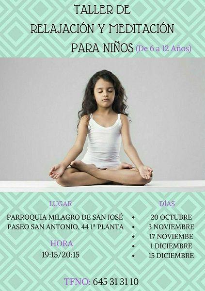 Taller de relajación y meditación para niños