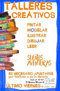 Talleres creativos en la librería Yuste