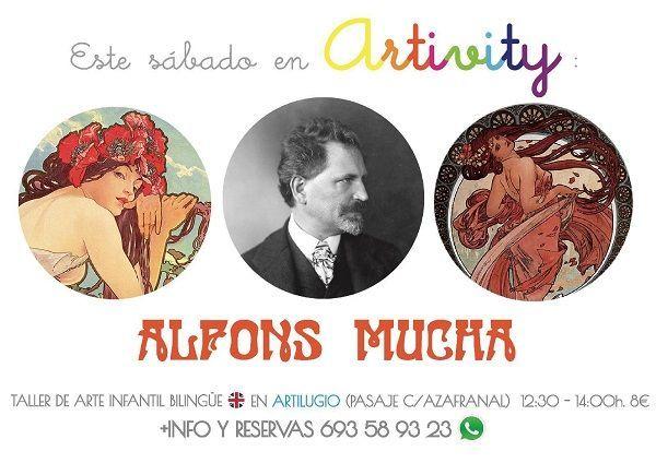 Alfons Mucha en el Artivity, taller infantil de arte en inglés en Salamanca