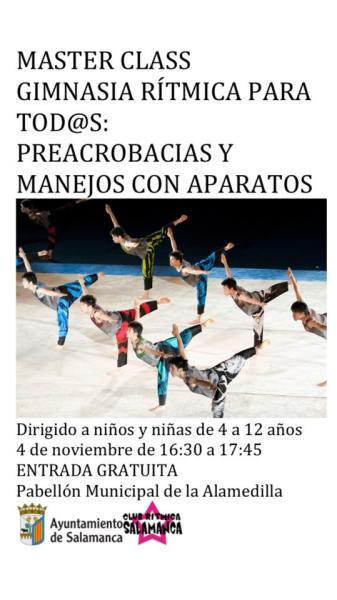 Masterclass de Club Rítmica Salamanca en el Pabellón de La Alamedilla