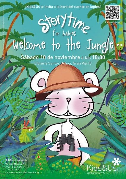 StoryTime para bebés de Kids&Us en la librería Santos Ohoa de Salamanca