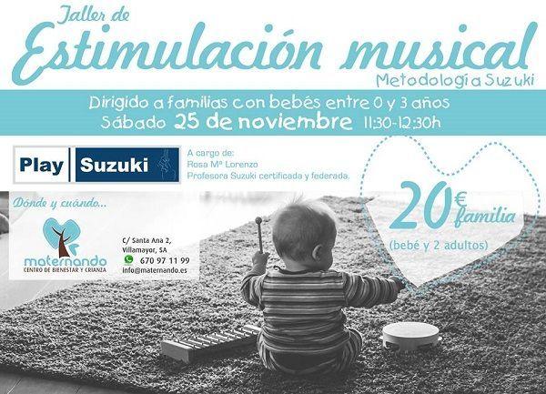 Taller de estimulación temprana con el método Suzuki en Maternando