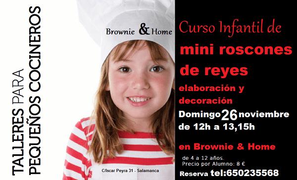Taller infantil de mini roscones en Brownie & Home