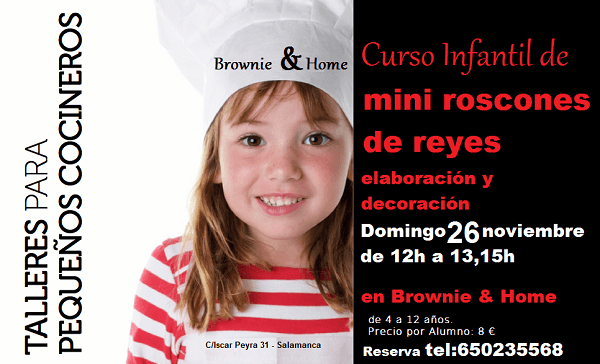 Taller infantil de mini roscones en Brownie & Home