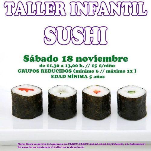 Taller infantil de sushi en Tarty Party