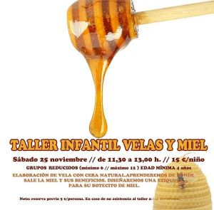 Taller infantil de velas y miel en Tarty Party Salamanca