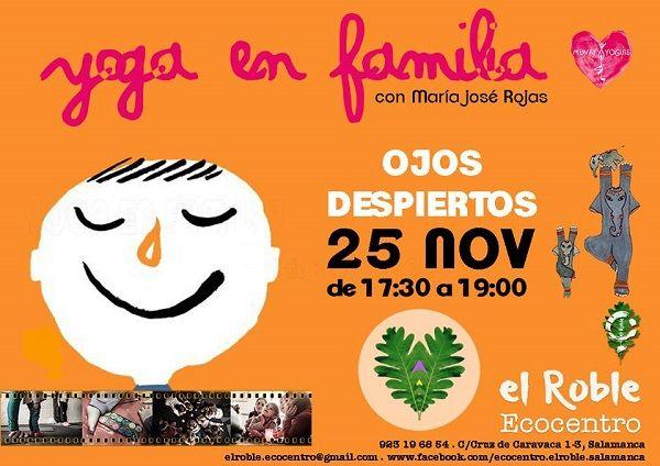 Yoga en familia en Ecocentro El Roble